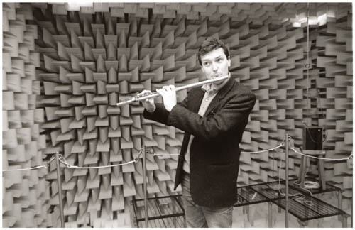 John Hackett plays in the BBC's Anechoic Chamber at Kingswood Warren